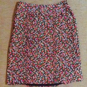 GAP Skirts - GAP brown fall floral pencil skirt size 2 small